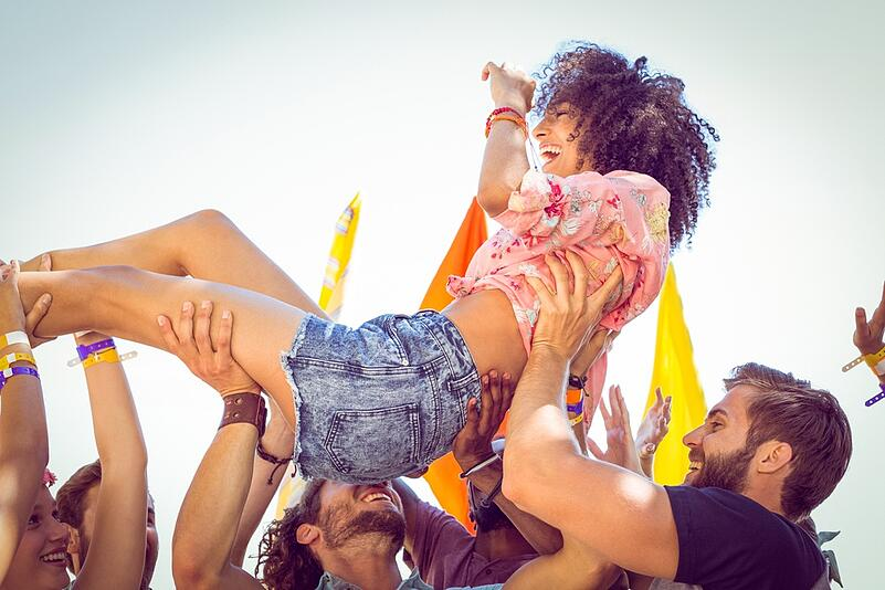Crowdsurfing makes for a great Instagram pic