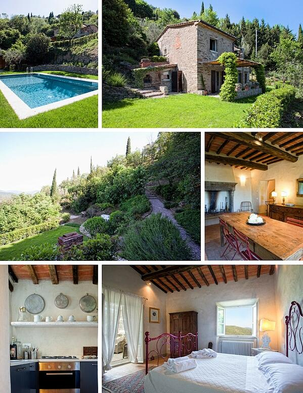 Tuscany villa collage
